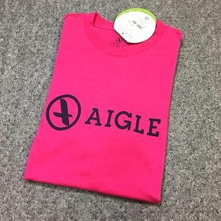 エーグル(AIGLE)の☆ タグ付♪ AIGLE コットン ロゴ Tシャツ  ピンク L No.147(Tシャツ/カットソー(半袖/袖なし))