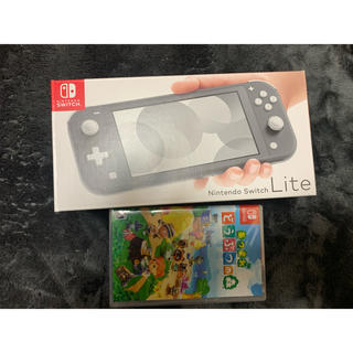 ニンテンドースイッチ(Nintendo Switch)のNintendo Switch Lite グレー どうぶつの森 セット(家庭用ゲーム機本体)