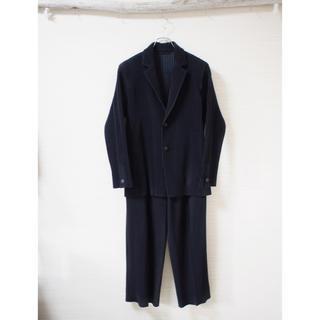 イッセイミヤケ(ISSEY MIYAKE)の【HOMME PLISSE】Black pleats set-up(セットアップ)