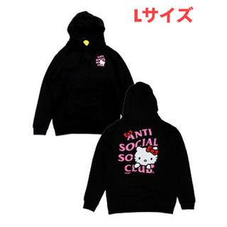アンチ(ANTI)のHello Kitty x Assc Black Hoodie Lサイズ(パーカー)