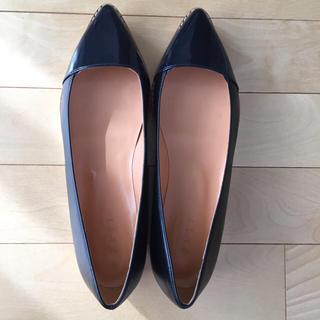 プラステ(PLST)のPLST レザーコンビフラットシューズ(ローファー/革靴)
