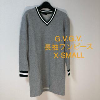 ジーヴィジーヴィ(G.V.G.V.)のG.V.G.V. 長袖ワンピース グレー / X-SMALL ユーズド(整F3)(ひざ丈ワンピース)