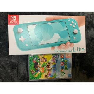 ニンテンドースイッチ(Nintendo Switch)のNintendo Switch Lite ターコイズ どうぶつの森 セット(家庭用ゲーム機本体)