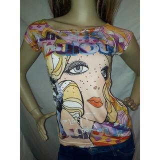 アナップラティーナ(ANAP Latina)のANAP USA アメコミ プリント オフショル Tシャツ(Tシャツ(半袖/袖なし))
