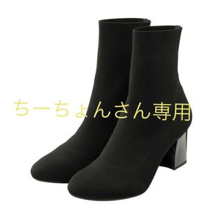 ジーユー(GU)のGU ニットストレッチブーツ+E(ブーツ)