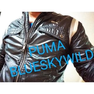 プーマ(PUMA)のPUMA WILD オールドデザイン ライダースジャケットウインドブレーカー(ライダースジャケット)