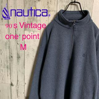 ノーティカ(NAUTICA)の90's nautica ノーティカ 旧ロゴ刺繍 ゆるだぼフリースプルオーバー(ブルゾン)