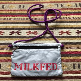ミルクフェド(MILKFED.)のMILKFED. ミルクフェド サコッシュ 斜め掛け バッグ 軽量 グレー(ショルダーバッグ)