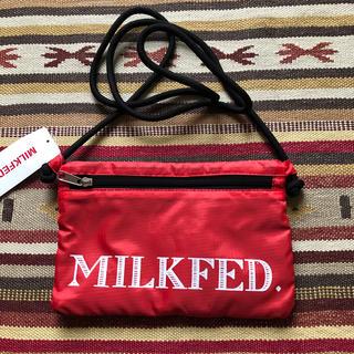 ミルクフェド(MILKFED.)のMILKFED. ミルクフェド サコッシュ 斜め掛け バッグ 軽量 赤(ショルダーバッグ)