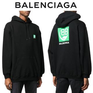 バレンシアガ(Balenciaga)の8 BALENCIAGA ブラック ロゴプリント スウェット パーカー/S(パーカー)