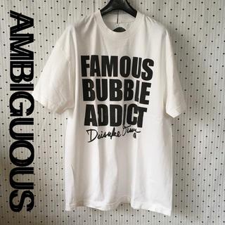 アンビギュアス(AMBIGUOUS)の AMBIGUOUSアンビギュアスUS限定デザイナーデザイン非売品レトロTシャツ(Tシャツ/カットソー(半袖/袖なし))