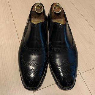 エンツォボナフェ(ENZO BONAFE)のエンツォボナフェ ENZO BONAFE サイドエラスティック 黒 40(ドレス/ビジネス)