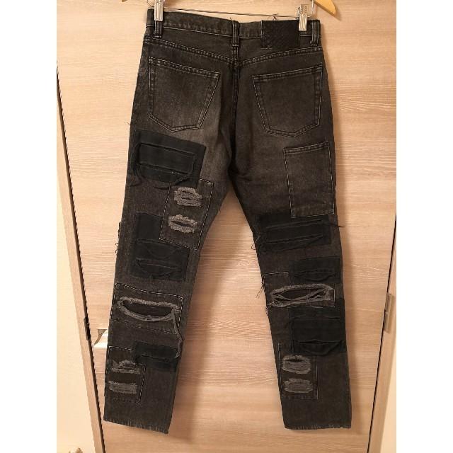 ATTACHIMENT(アタッチメント)のattachment ダメージパッチワークデニムパンツ メンズのパンツ(デニム/ジーンズ)の商品写真