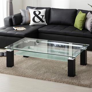 ニトリ(ニトリ)のニトリ ガラステーブル 黒(ローテーブル)