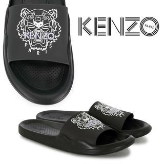 ケンゾー(KENZO)の1 KENZO タイガー ブラック ラバー シャワーサンダル size 40(サンダル)