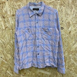 ウェストトゥワイス(Waste(twice))の200413 WASTE TWICE チェックシャツ(シャツ)