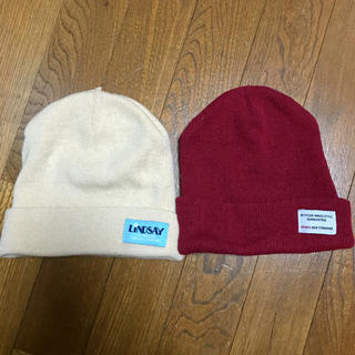スピンズ(SPINNS)のニット帽 2つセット(ニット帽/ビーニー)