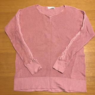 シューラルー(SHOO・LA・RUE)のニット Mサイズ ピンク色 美品(ニット/セーター)