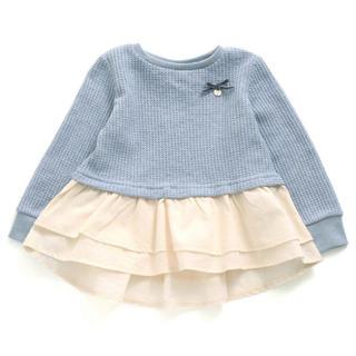 プティマイン(petit main)のsoumama様専用♡ アプレレクール ワッフルペプラムTシャツ 90(ニット)