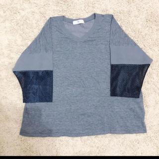 トーガ(TOGA)のTOGA VIRILIS トーガ 袖メッシュ 切り替え Tシャツ 46(Tシャツ/カットソー(七分/長袖))