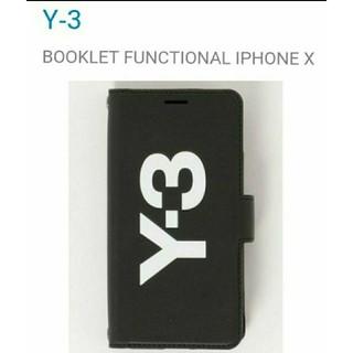 ワイスリー(Y-3)のY-3 iPhone X レザー携帯カバー BOOKLET FUNCTIONAL(モバイルケース/カバー)