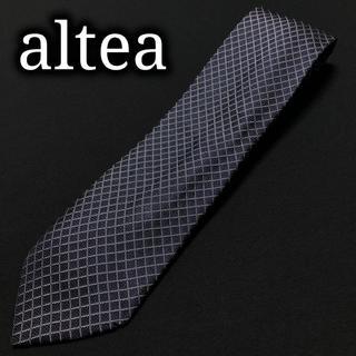 アルテア(ALTEA)のアルテア チェック ネイビー ネクタイ A104-I18(ネクタイ)