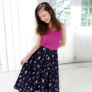 シェリーモナ(Cherie Mona)のシェリーモナ コットンフレアスカート 花柄(ロングスカート)