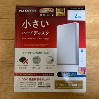 アイオーデータ(IODATA)の新品 IOデータ USB 3.1 Gen 1対応 ポータブルHDD 2TB(PC周辺機器)