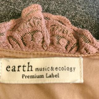 アースミュージックアンドエコロジー(earth music & ecology)のレース✳︎ピンクリボン✳︎トップス✳︎(シャツ/ブラウス(長袖/七分))