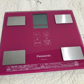 パナソニック(Panasonic)のPanasonic 体重計 体脂肪計  ピンク(体重計/体脂肪計)