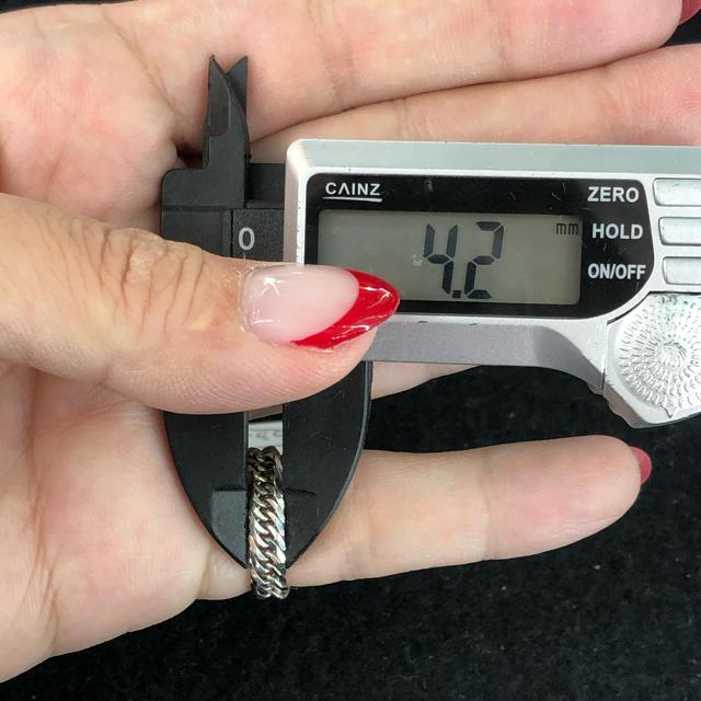 (新品)Pt900 8面トリプル 喜平リング(細) 2号 2.8g (19) メンズのアクセサリー(リング(指輪))の商品写真