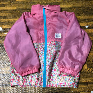 シマムラ(しまむら)の100 フード付ウインドブレーカー ピンク花柄(ジャケット/上着)