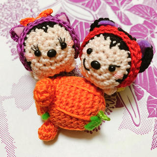 ディズニー(Disney)の編みぐるみ ディズニー ハロウィン ミッキー&ミニー(あみぐるみ)