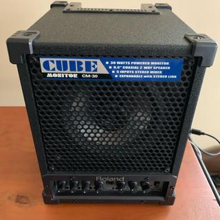 ローランド(Roland)のRoland cube monitor CM-30 極美品(スピーカー)