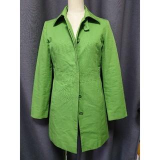 NATURAL BEAUTY BASIC - NATURAL BEAUTY BASIC スプリングコート 黄緑 Sサイズ 綿