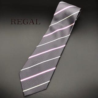 リーガル(REGAL)のリーガル シルクネクタイ☆定番 トラッド レジメンタル(ネクタイ)