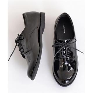 メルロー(merlot)のmerlot オックスフォードシューズ ブラックエナメル L(ローファー/革靴)