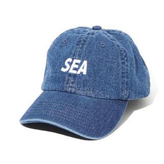 シュプリーム(Supreme)のWIND AND SEA ロゴ キャップ ブルー(キャップ)