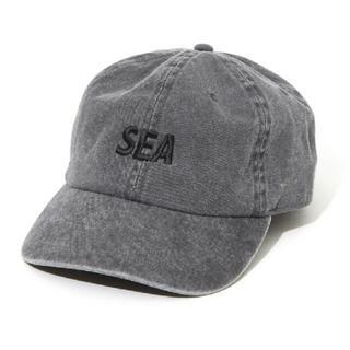 シュプリーム(Supreme)のWIND AND SEA ロゴ キャップ ブラック(キャップ)