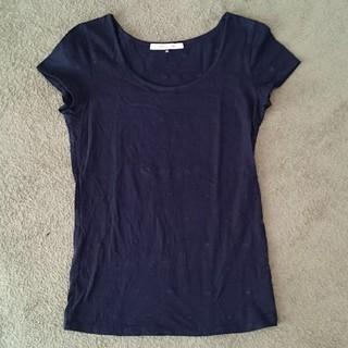 アンレリッシュ(UNRELISH)のUNRELISH 黒Tシャツ ハート刺繍あり(Tシャツ(半袖/袖なし))