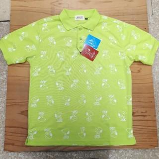 ピーナッツ(PEANUTS)の新品タグ付き ライトグリーン スヌーピー ポロシャツ(ポロシャツ)