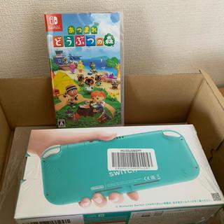 ニンテンドースイッチ(Nintendo Switch)のNintendo switch lite ターコイズ 本体 どうぶつの森 セット(携帯用ゲーム機本体)