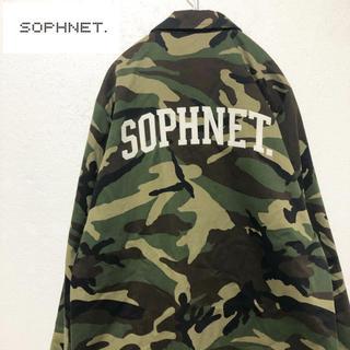 ソフネット(SOPHNET.)の【SOPHNET.】16AW カモ柄 ロゴコーチジャケット L(ブルゾン)