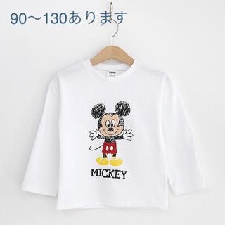 ミッキーTシャツ 長袖 90size(Tシャツ/カットソー)