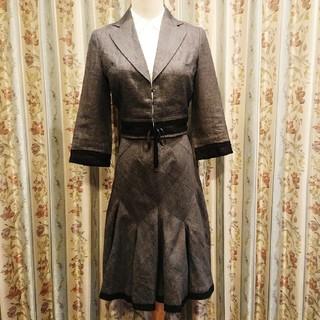 EPOCA - エポカ ★麻混★エレガント★ スカートスーツ ジャケット+スカート セットアップ