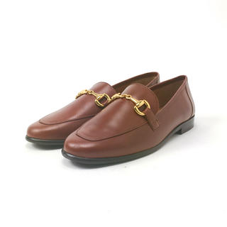 イエナスローブ(IENA SLOBE)のMARION TOUFET ビットローファー 茶 24cm 4804596(ローファー/革靴)