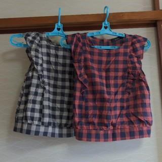 ダブルクローゼット(w closet)のwcloset  ノースリーブブラウス チェック(シャツ/ブラウス(半袖/袖なし))