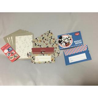 ディズニー(Disney)のミッキー ミニレターセット(カード/レター/ラッピング)