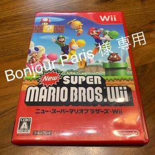 ニンテンドウ(任天堂)のNew スーパーマリオブラザーズ Wii Wii(家庭用ゲームソフト)