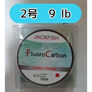 100m フロロカーボン ライン 2号 9lb アジング メバリング(釣り糸/ライン)